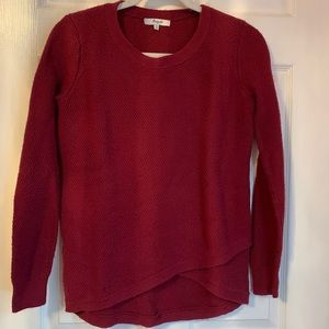 Cranberry Waffle-weave Madewell Sweater